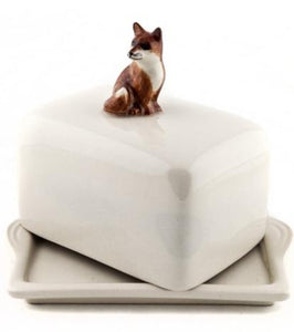 Fox Butter Dish by Quail