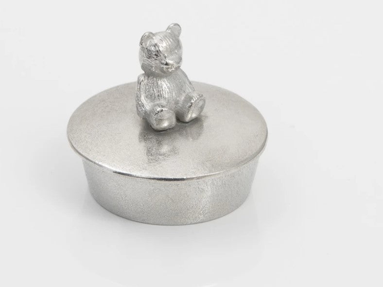 Small Pewter Trinket Box by Lancaster & Gibbings (Teddy)