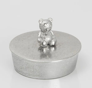 Tiny Pewter Trinket Box  by Lancaster & Gibbings (Teddy)