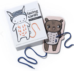 Baby Animals Lacing Cards by WEE Gallery