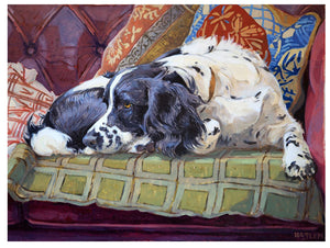 Card - Holly in the Sofa by Andrew Haslen