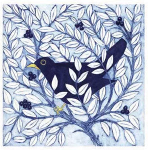 Card - Bird in a Bush by Victoria Keeble