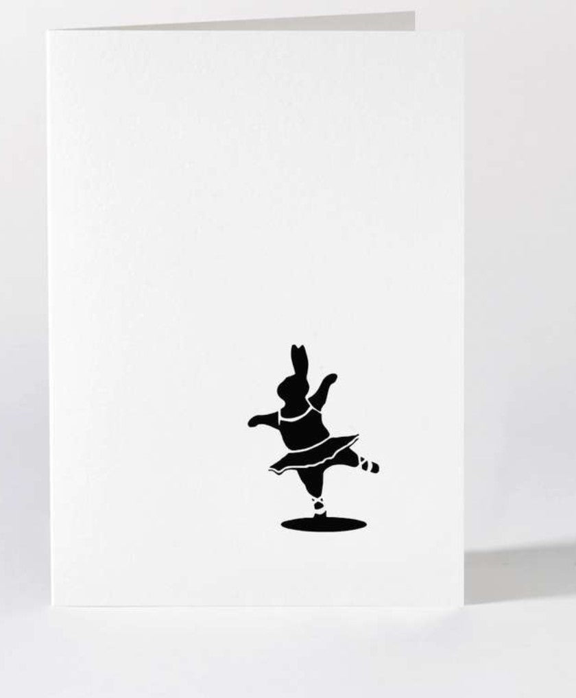Card - Ballet Dancing Rabbit by HAM