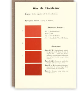 Card - Vin de Bordeaux by Pattern Book Press