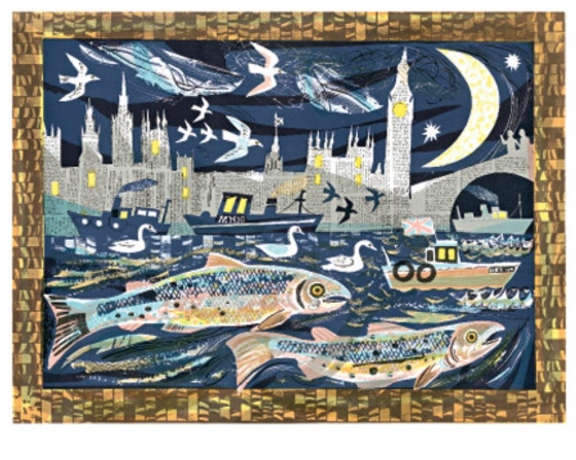 Card - Salmon return to the Thames by Mark Hearld