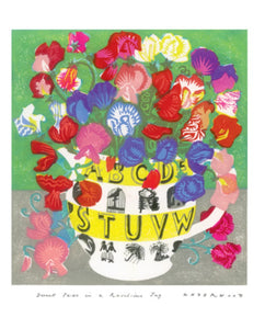 Card - Sweet Peas in Ravilious Jug by Matt Underwod