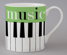 Load image into Gallery viewer, Mug by Repeat Repeat  (Graphic Music/Green)