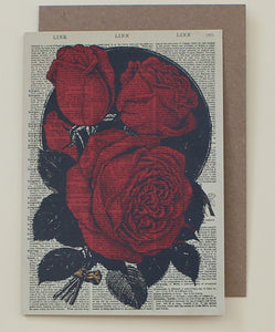 Card - Red Roses