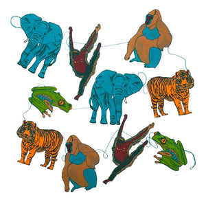 East End Press Paper Garland Animals