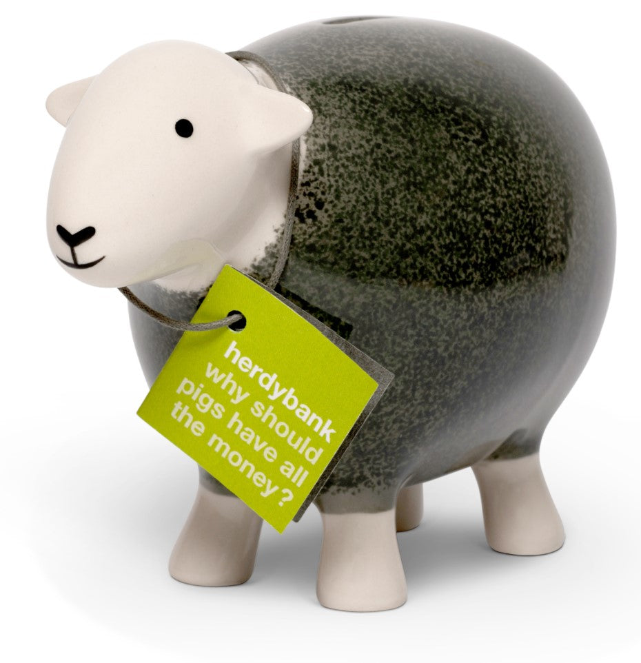 Herdy Money Box - Grey