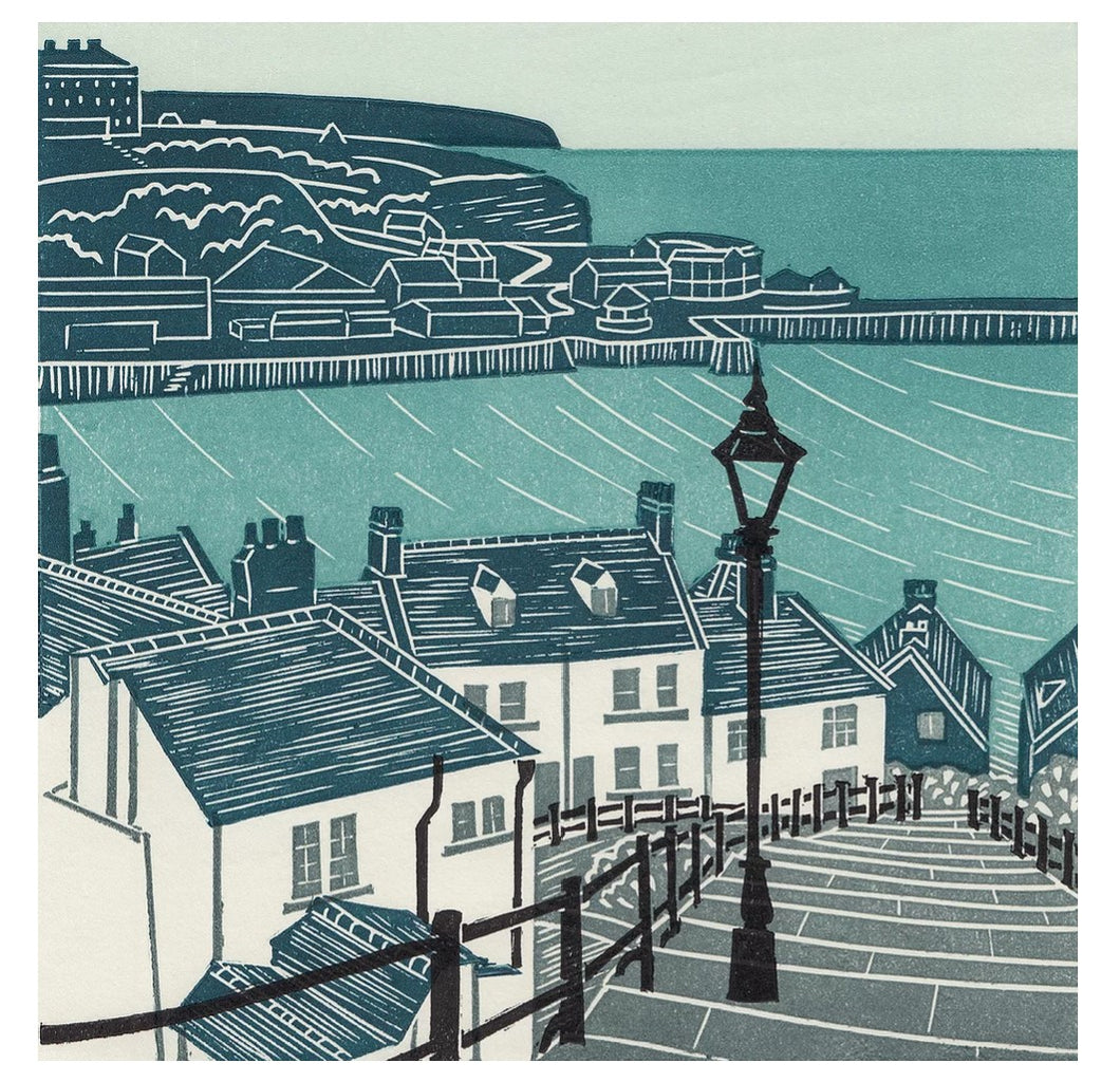 Whitby Steps Card by Michelle Hughes