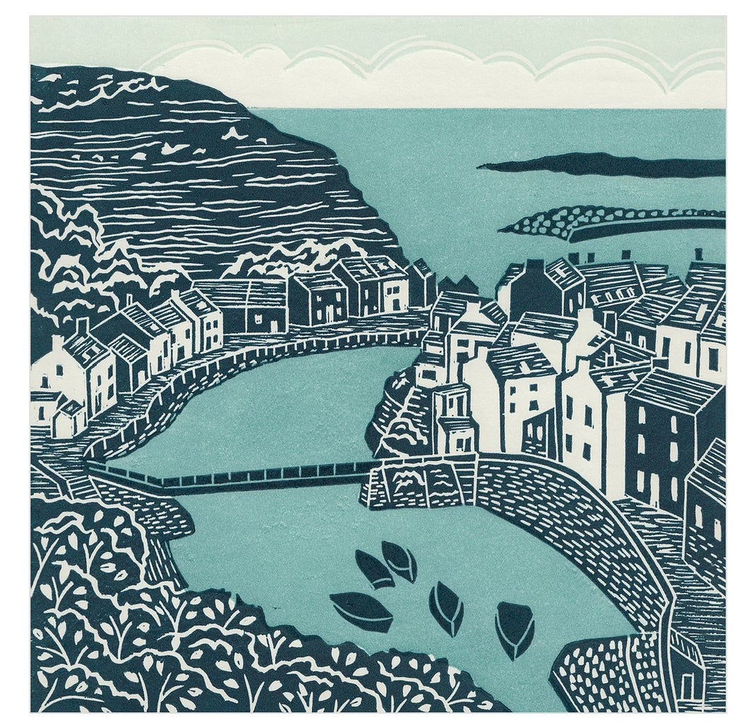 Staithes Card by Michelle Hughes