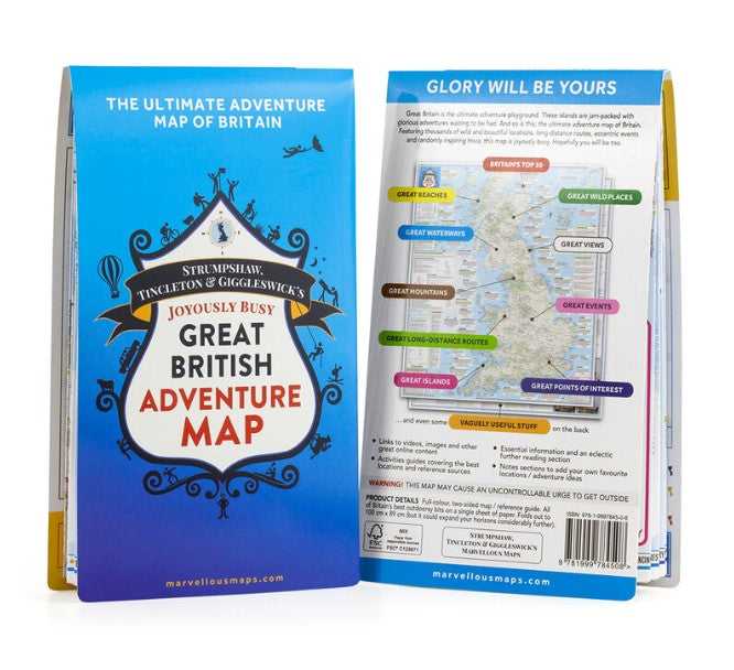 British Adventure Map (folded)