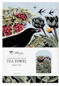 Angela Harding Tea Towel (Blackbird Stealing Redcurrants)