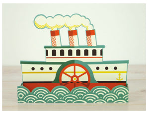 Card - Boat - Die cut 3D card by Tom Frost