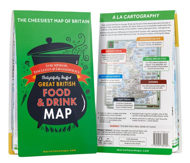 British Food & Drink Map (folded)
