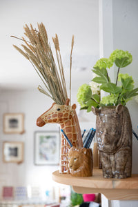 Giraffe Flower Vase by Quail (large)