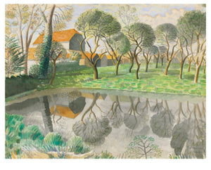 Card - Newt Pond, by Eric Ravilious
