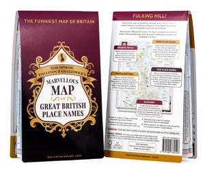 Marvellous Map of British Place Folded