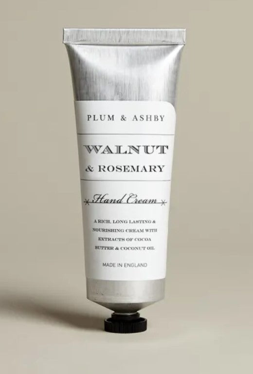 Plum & Ashby Hand Cream Walnut & Rosemary (tube)