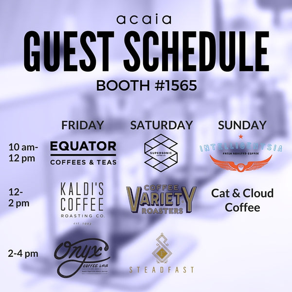 acaia booth schedule