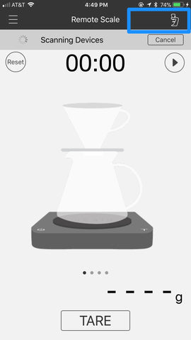 acaia coffee scale brewmaster sette