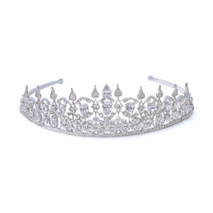 Load image into Gallery viewer, Anna Zuckerman Luxury Royal 01 Tiara Collection Diamond White