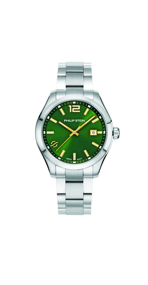 Load image into Gallery viewer, Philip Stein Traveler 42mm Green Dial Watch