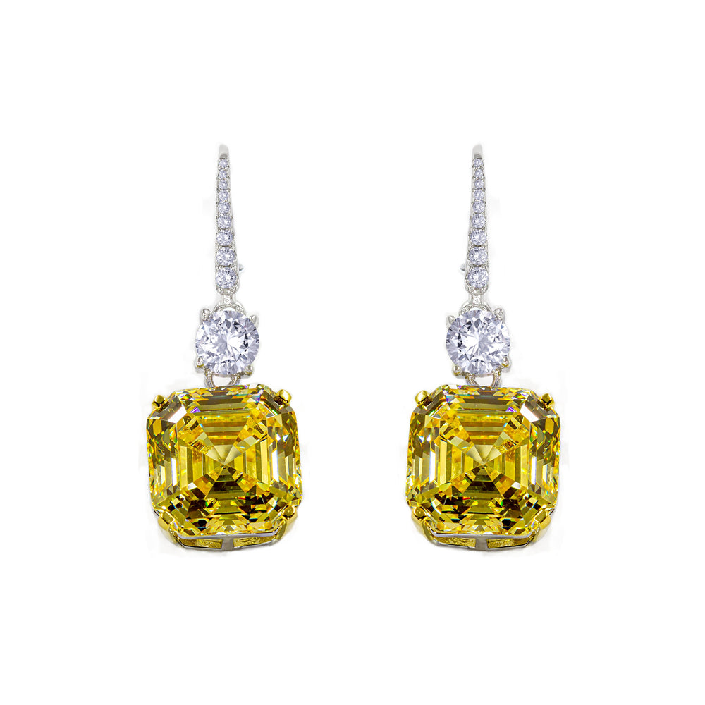 Load image into Gallery viewer, Arabella 12 Earrings Canary Yellow - Anna Zuckerman Luxury