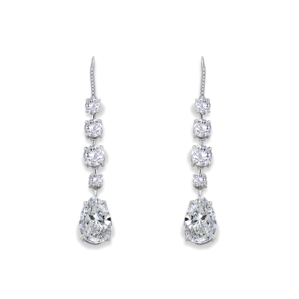 Elizabeth 18 Earrings Diamond White - Anna Zuckerman Luxury