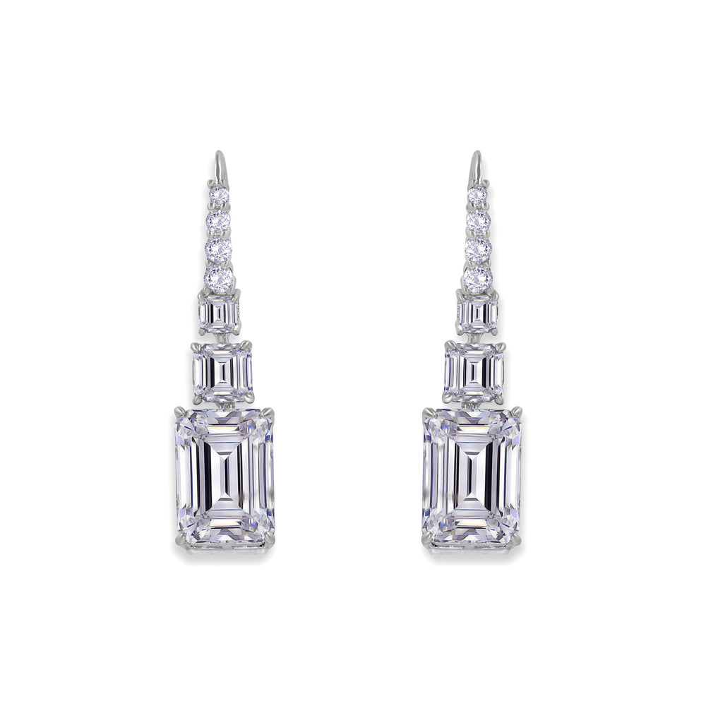 Grace 13 Earrings Diamond White - Anna Zuckerman Luxury