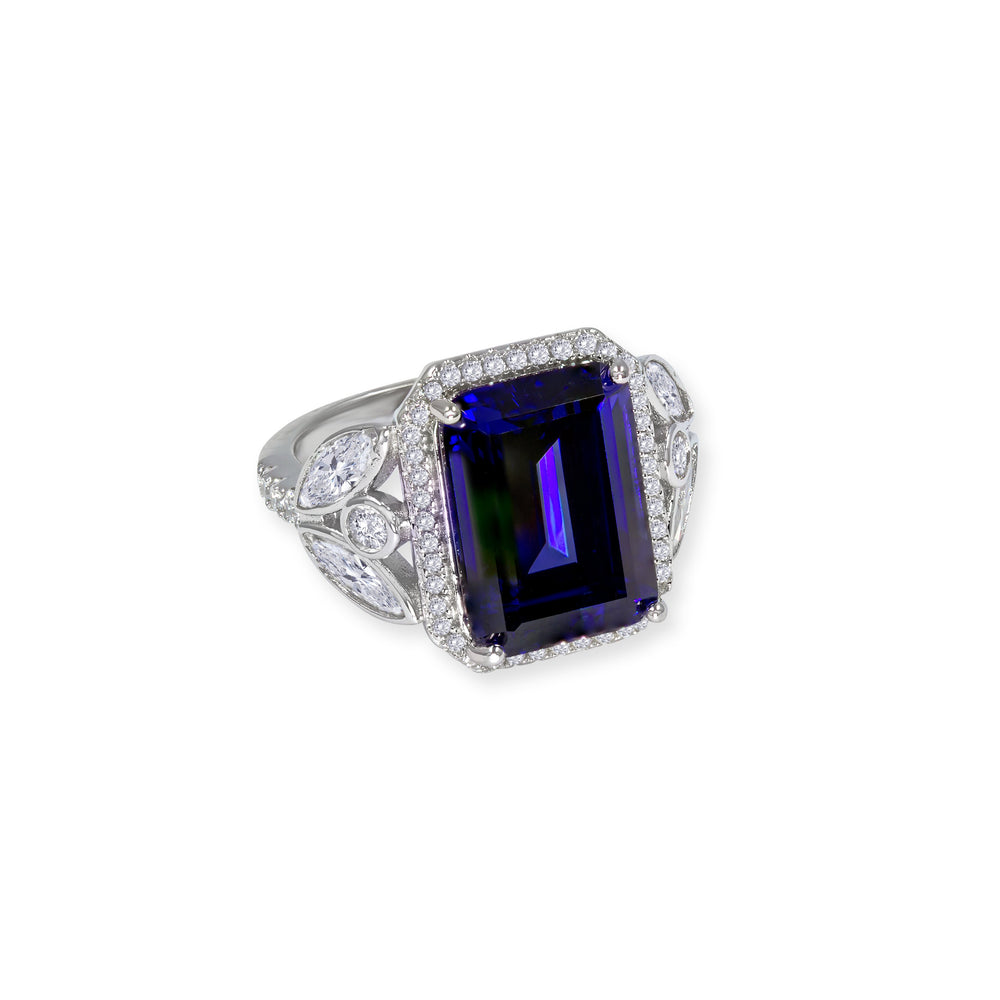 Load image into Gallery viewer, Grace 07 Ring Sapphire Blue - Anna Zuckerman Luxury