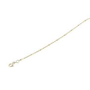 Monarch Oro 14Kt Yellow Gold Wheat With Textured Bar Chain 3.9Gr