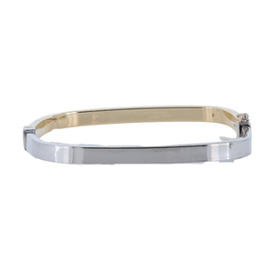Monarch Oro 14Kt High Polish White Gold Bangle