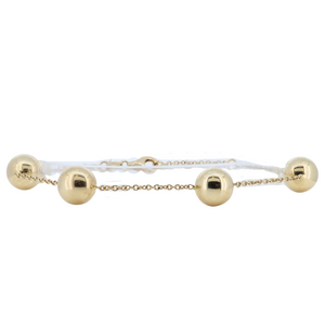 Load image into Gallery viewer, Monarch Oro 14K Yellow Gold Ball Link Bracelet