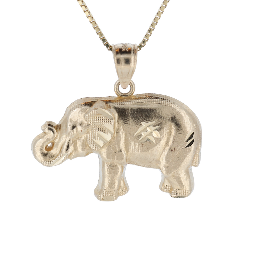 Orotrevi Elephant 14kt Yellow Gold Pendant