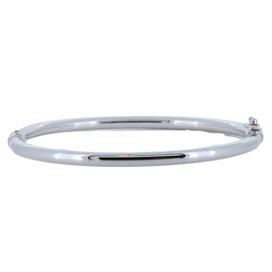 Load image into Gallery viewer, Monarch Oro 14Kt High Polish White Gold Bangle