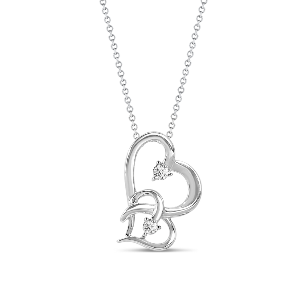 Brooklyn Lights Two-Toned Heart Pendant