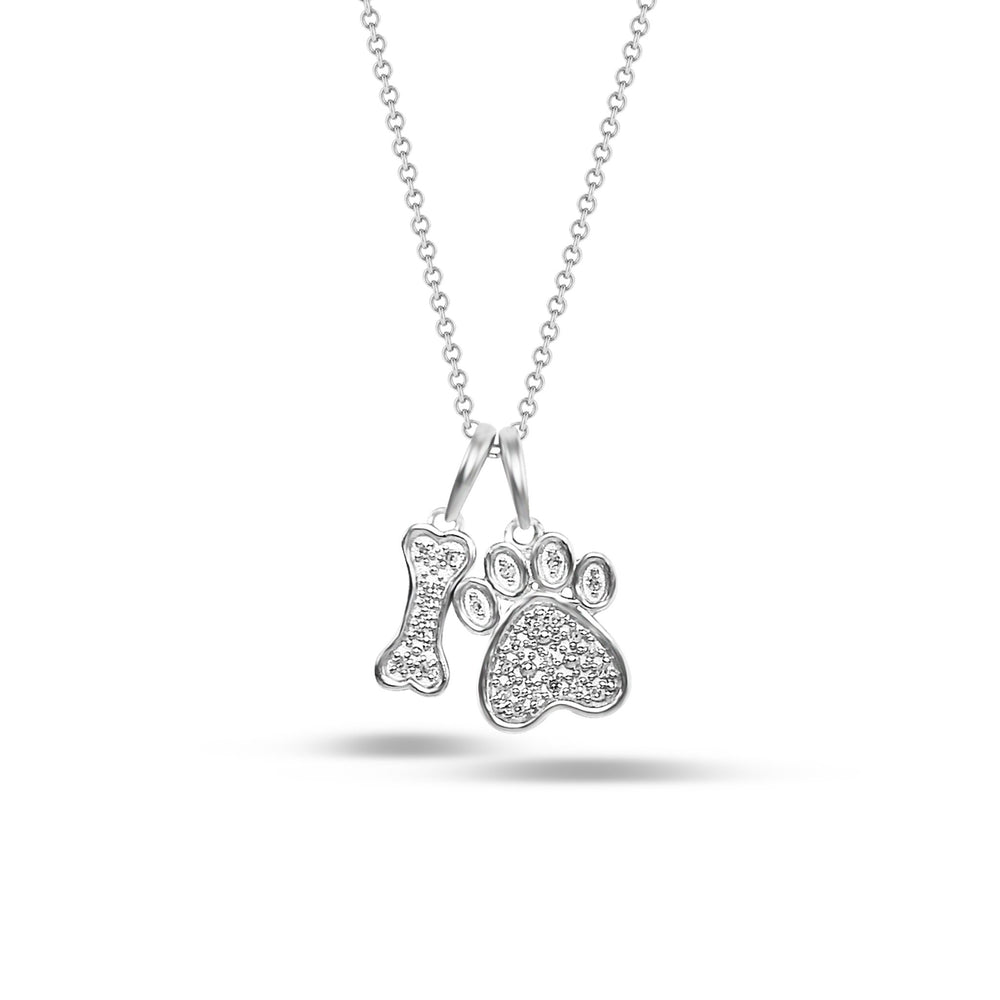 Load image into Gallery viewer, Brooklyn Lights Paw & Bone Pendant