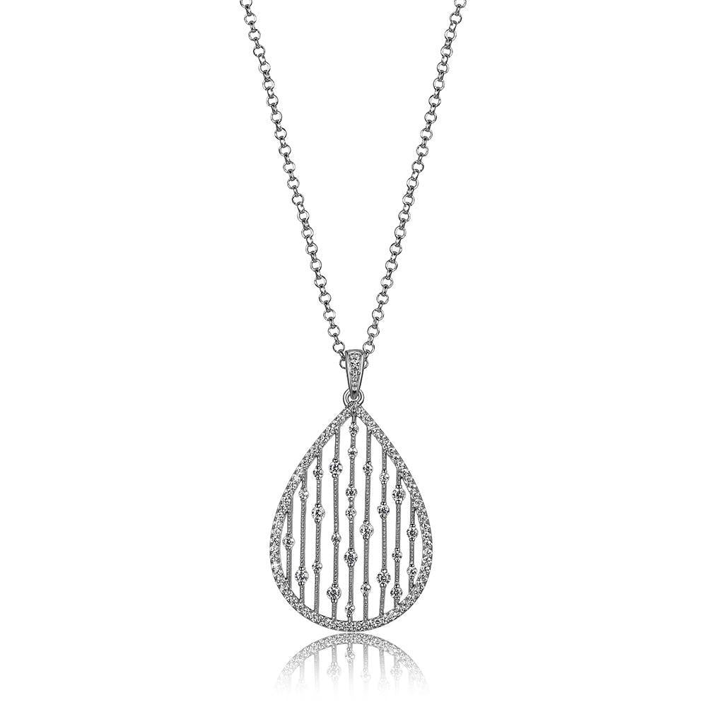 Load image into Gallery viewer, Charles Garnier Paris 1901 Sterling Silver Ocean Necklace