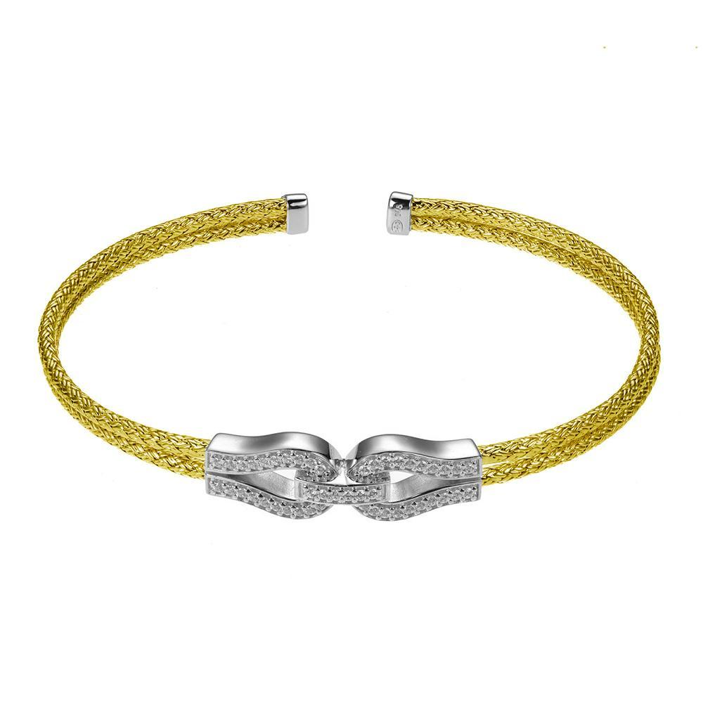 Load image into Gallery viewer, Charles Garnier Paris 1901 Sterling Silver Essence Bracelet