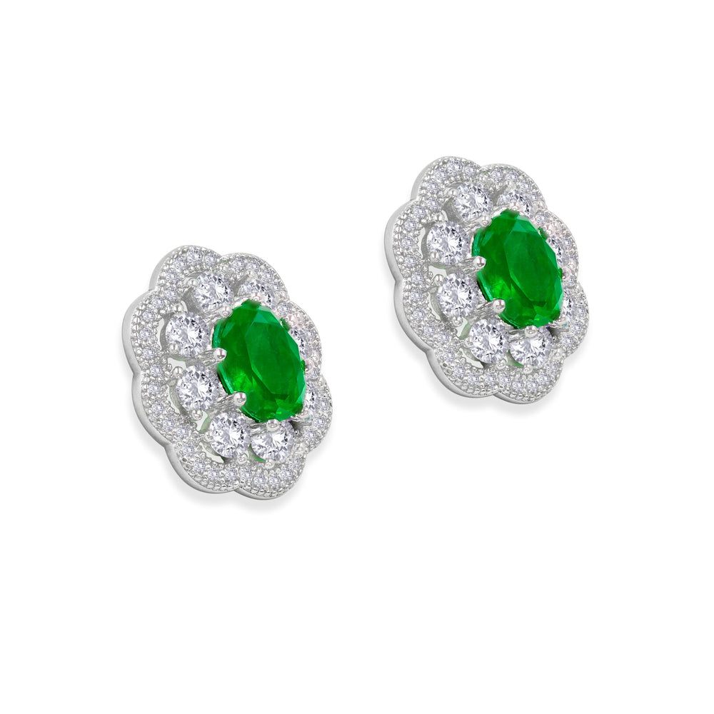 Load image into Gallery viewer, Victoria 10 Earrings Emerald Green - Anna Zuckerman Luxury
