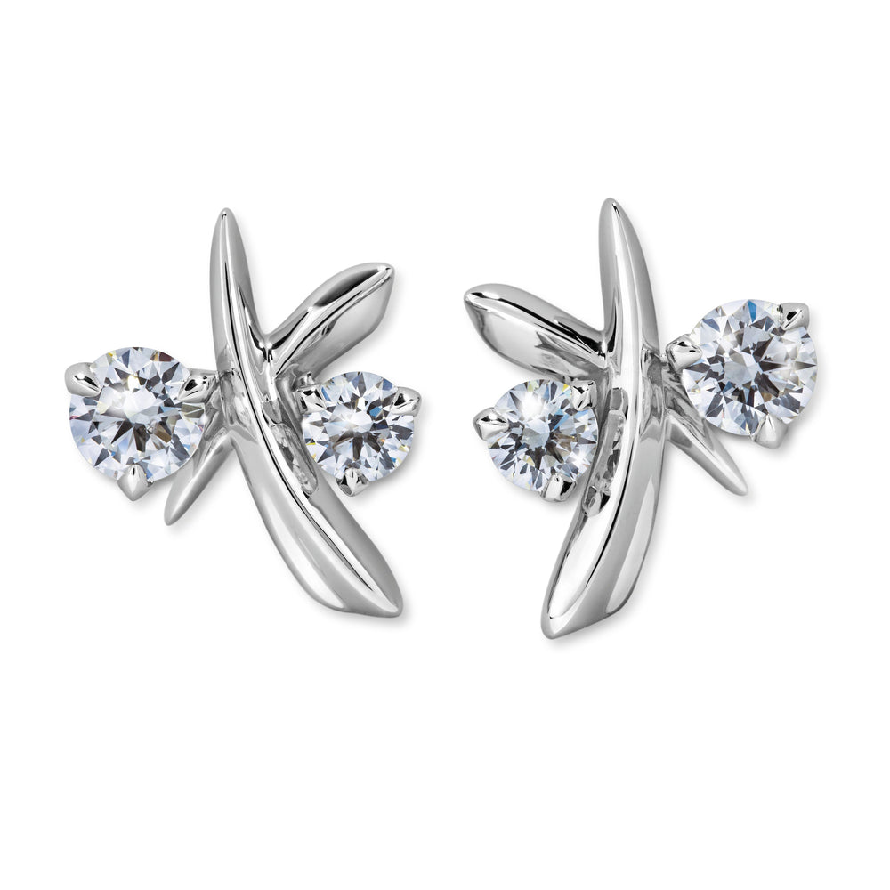 Atelier Swarovski Diama Encounter Stud Earrings, 18K White Gold
