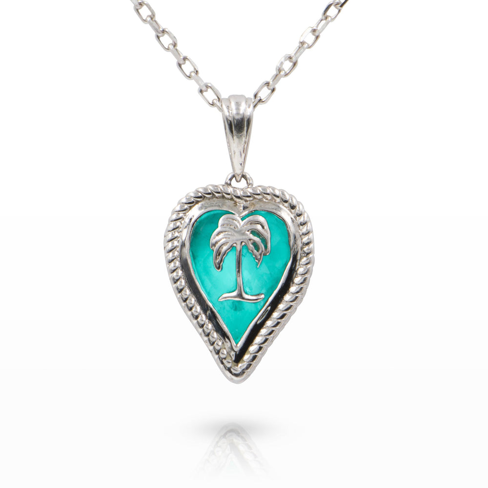 Glow of the Caribbean Love my Island Pendant