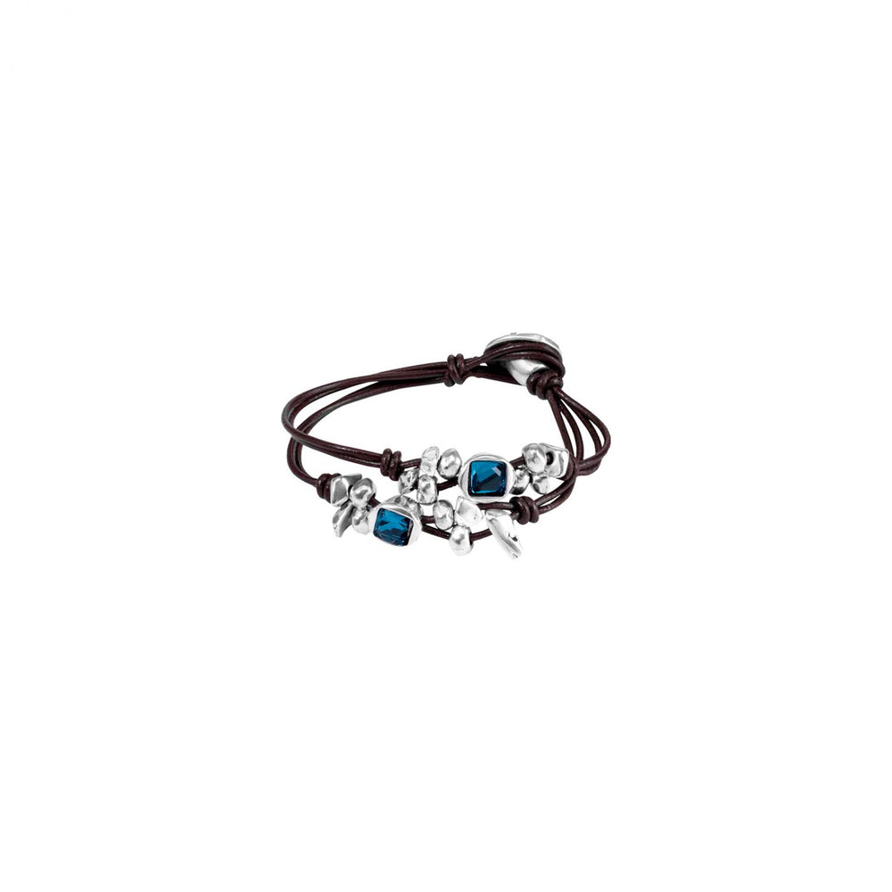 Load image into Gallery viewer, UNOde50 Blue Bull Bracelet