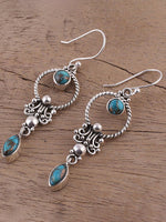 Load image into Gallery viewer, Vintage Inlaid Turquoise Earrings