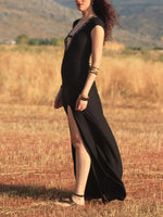 Load image into Gallery viewer, Sexy Vintage Tribal Lady in Black Dress