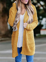 Load image into Gallery viewer, Solid Color Grainy Fluff Long Cardigan