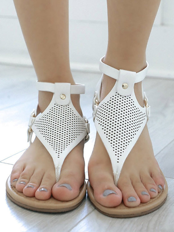 Women's open-toe flat sandals