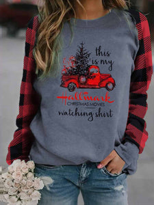 Women's This Is My Hallmark Christmas Movies Watching Shirt Print Sweatshirt